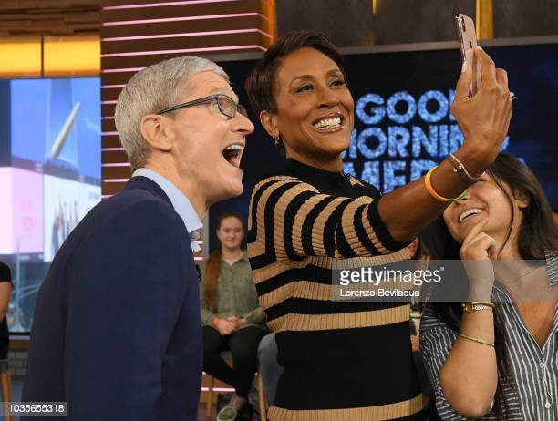 AMERICA Apple CEO Tim Cook is a guest on 'Good Morning America' Tuesday September 18 2018 on ABC TIM