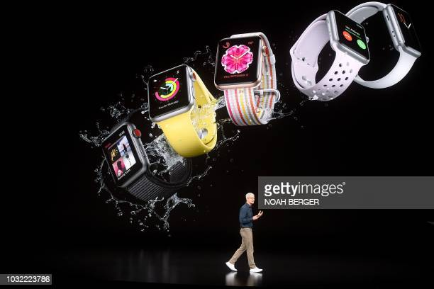 Apple CEO Tim Cook speaks during an Apple event on September 12 in Cupertino California New iPhones set to be unveiled Wednesday offer Apple a chance...