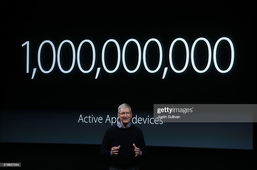 Apple CEO Tim Cook speaks during an Apple special event at the Apple headquarters on March 21, 2016 in Cupertino, California. The company is expected to update its iPhone and iPad lines, and introduce new bands for the Apple Watch.