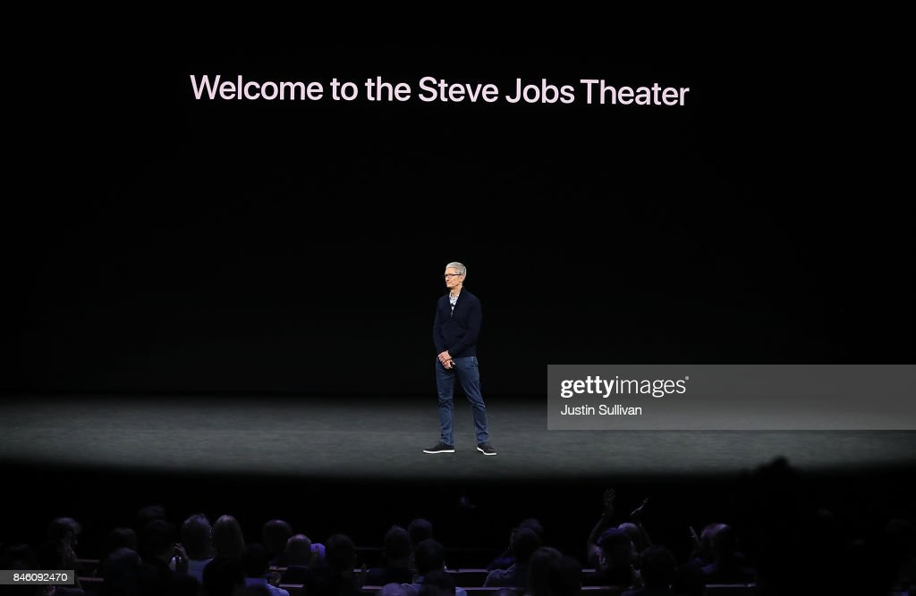 Apple CEO Tim Cook speaks during an Apple special event at the Steve Jobs Theatre on the Apple Park campus on September 12, 2017 in Cupertino, California. Apple is holding their first special event at the new Apple Park campus where they are expected to unveil a new iPhone.