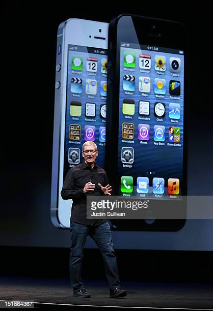 Apple CEO Tim Cook speaks during an Apple special event at the Yerba Buena Center for the Arts on September 12, 2012 in San Francisco, California....