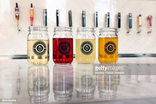 TORONTO ON FEBRUARY 28 Apple cider samples at the new Brickworks Ciderhouse February 28 2018 For weekly newbusiness profile