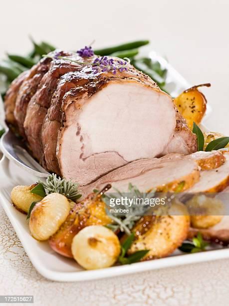 apple cider-glazed pork loin roast