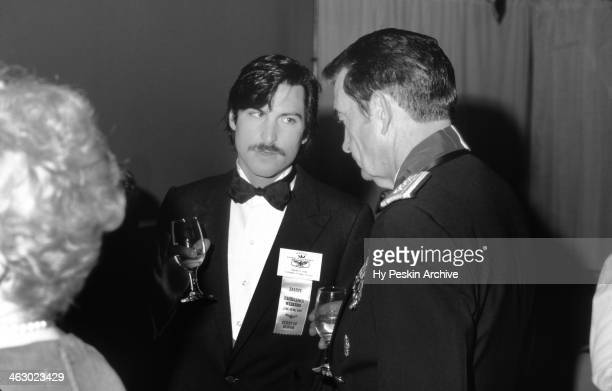Apple cofounder Steve Jobs chats with a general at the Academy of Achievement Golden Plate Awards on June 24 1982 in New Orleans Louisiana