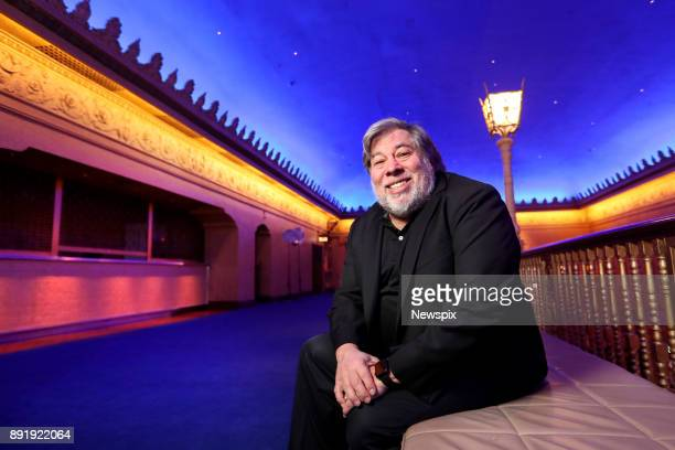 MELBOURNE VIC Apple cofounder Steve Wozniak poses during a photo shoot at the Forum Theatre in Melbourne Victoria
