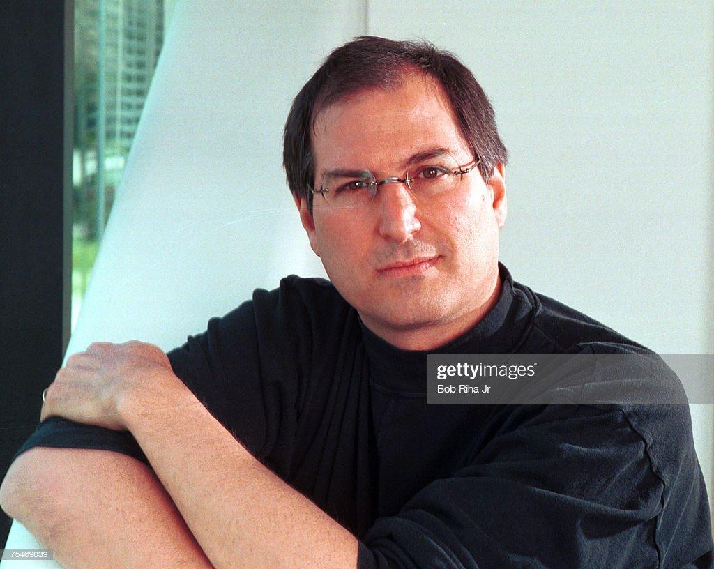 Steve Jobs 1996 Portrait Session by Bob Riha : News Photo