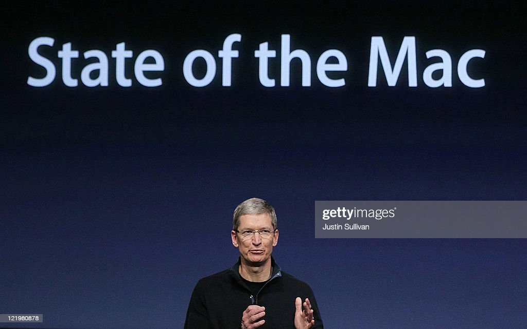 Apple COO Tim Cook speaks during an Apple special event at the company's headquarters on October 20, 2010 in Cupertino, California. Apple announced a new version of it's iLife suite and is expected to announce a new operating system for its Mac computers.