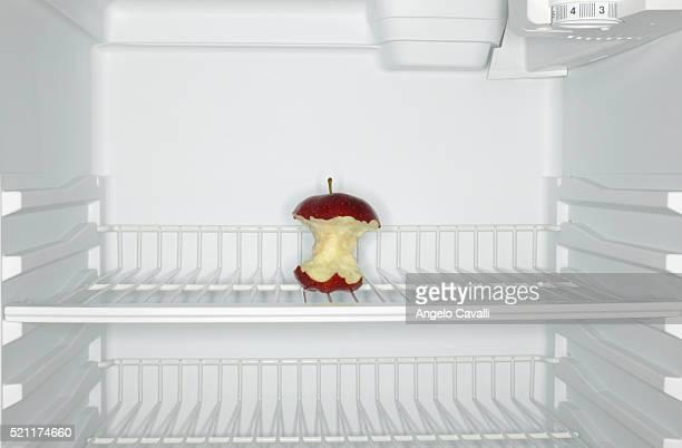 Apple Core in Refrigerator