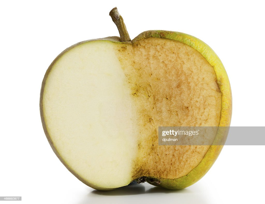 Apple Fresh and Decayed : Stock Photo