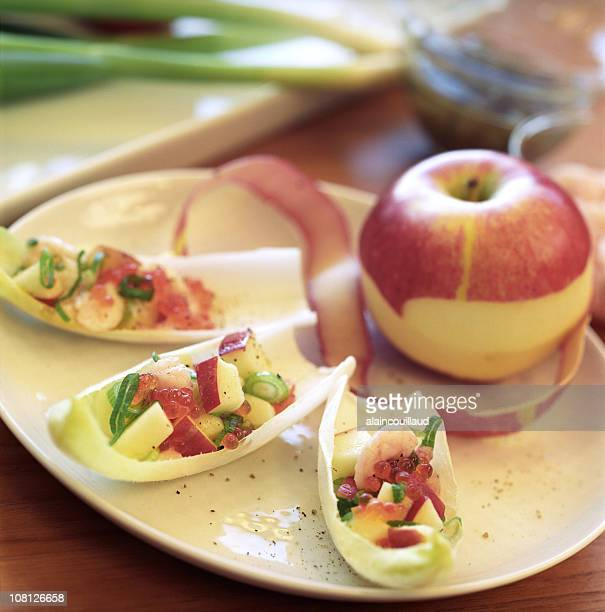 Apple Hors D'oeuvres or Appetizers Arranged on Plate