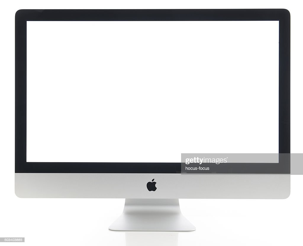 Apple iMac 27 inch desktop computer : Stock Photo