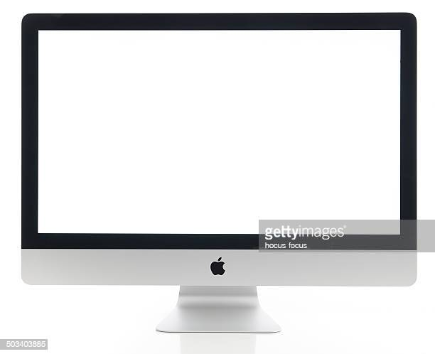 apple imac 27 inch desktop computer - computer monitor stock pictures, royalty-free photos & images