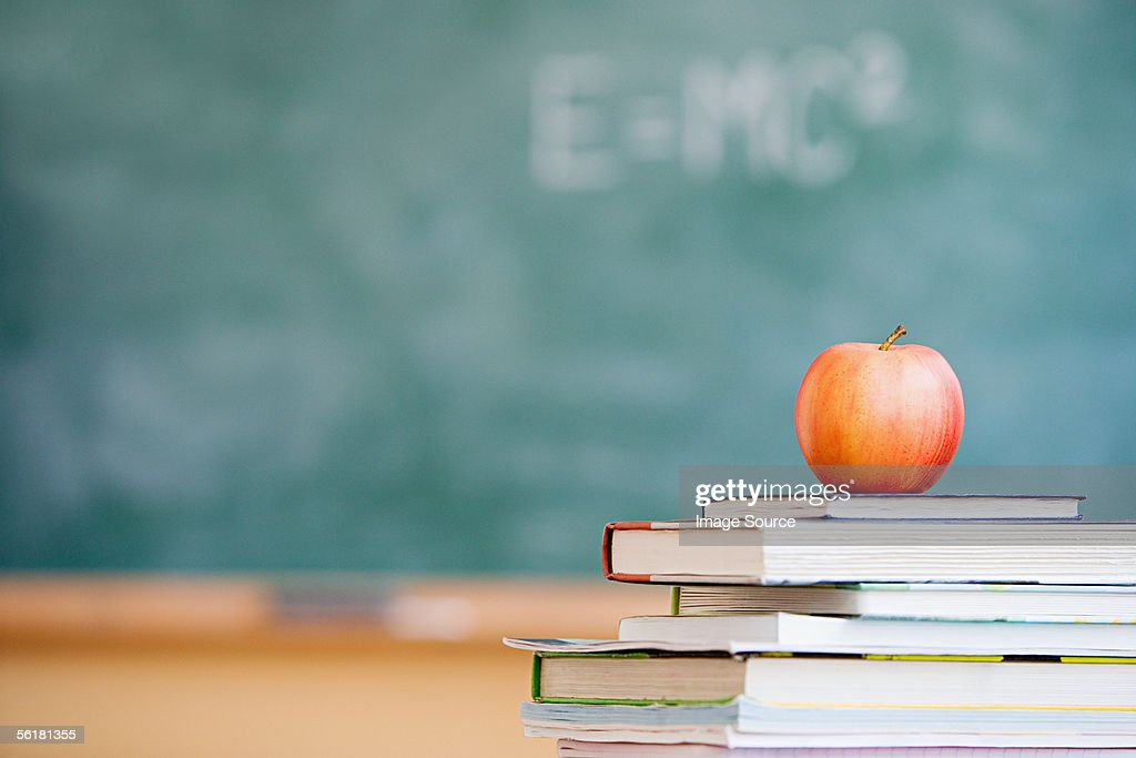 Apple in a classroom : Stock Photo