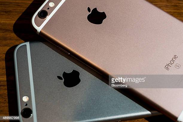Apple Inc iPhone 6s smartphones are arranged in a photograph in Hong Kong China on Friday Sept 25 2015 The latest models following last year's hugely...