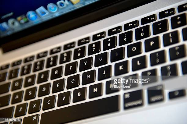 Apple Inc's new MacBook Pro with retina display is arranged for a photograph in San Francisco California US on Monday June 11 2012 Apple Inc is...