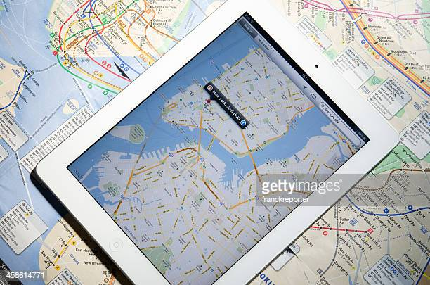 Apple Ipad 2 with New York City maps
