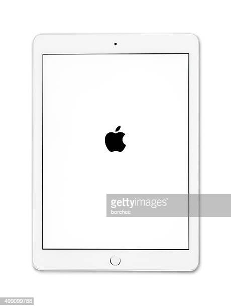 apple ipad air 2 silver - elektronische organiser stockfoto's en -beelden