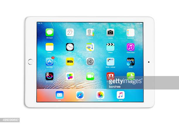 apple ipad air 2 silver - icon set stock photos and pictures