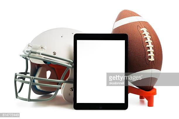 Apple iPad air with a Football and helmet