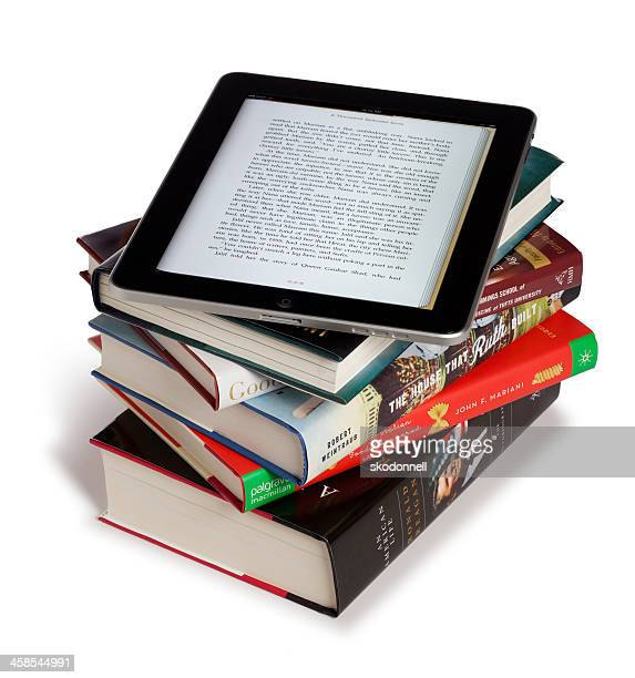 Apple iPad on Top of Books