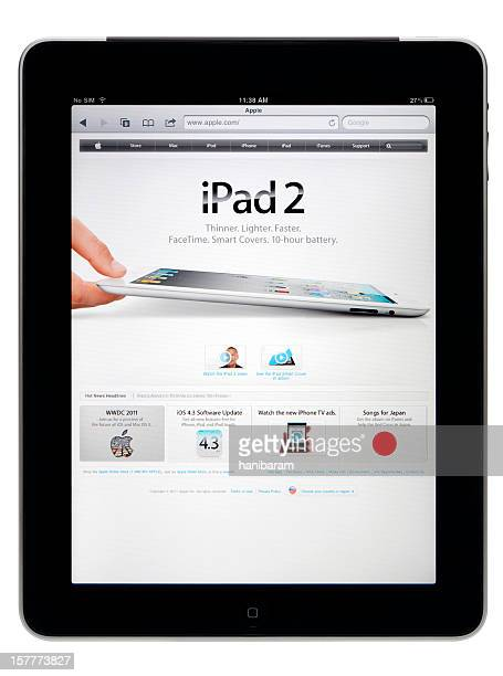 Apple iPad with clipping path.