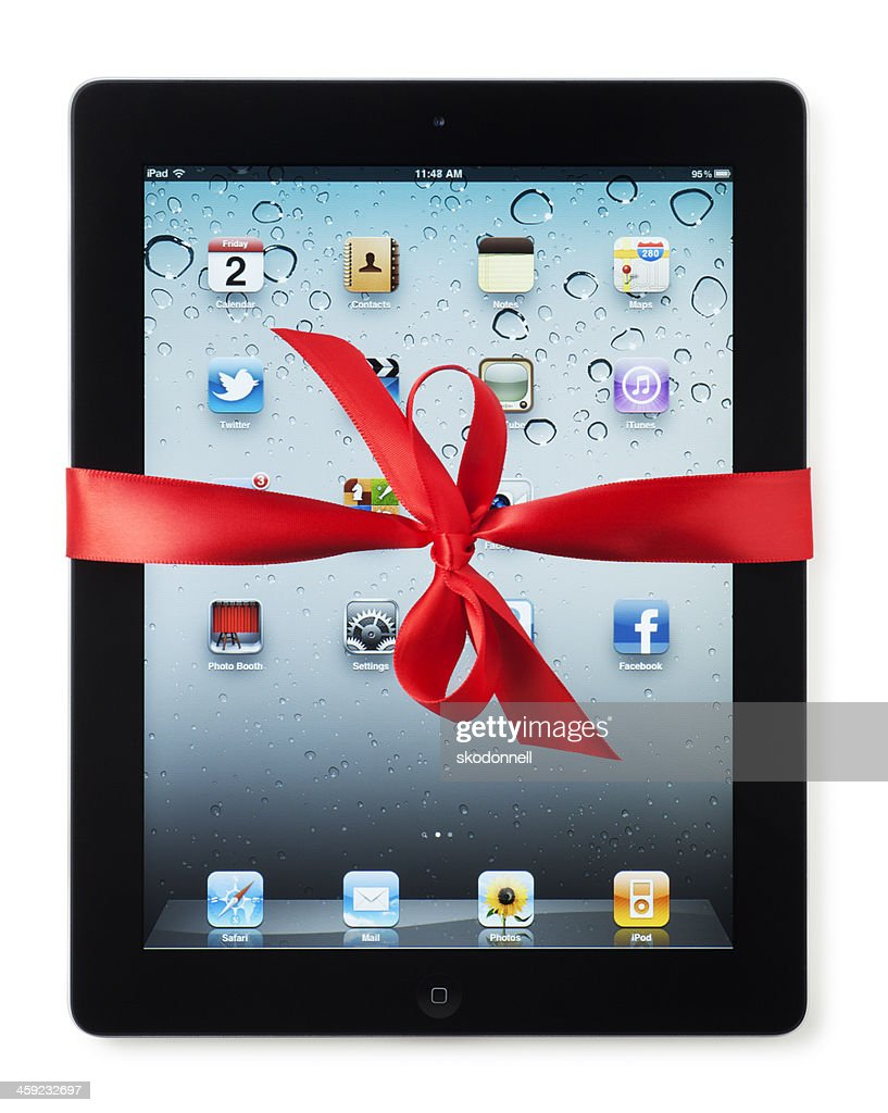 Apple iPad with Red Bow : Stock Photo