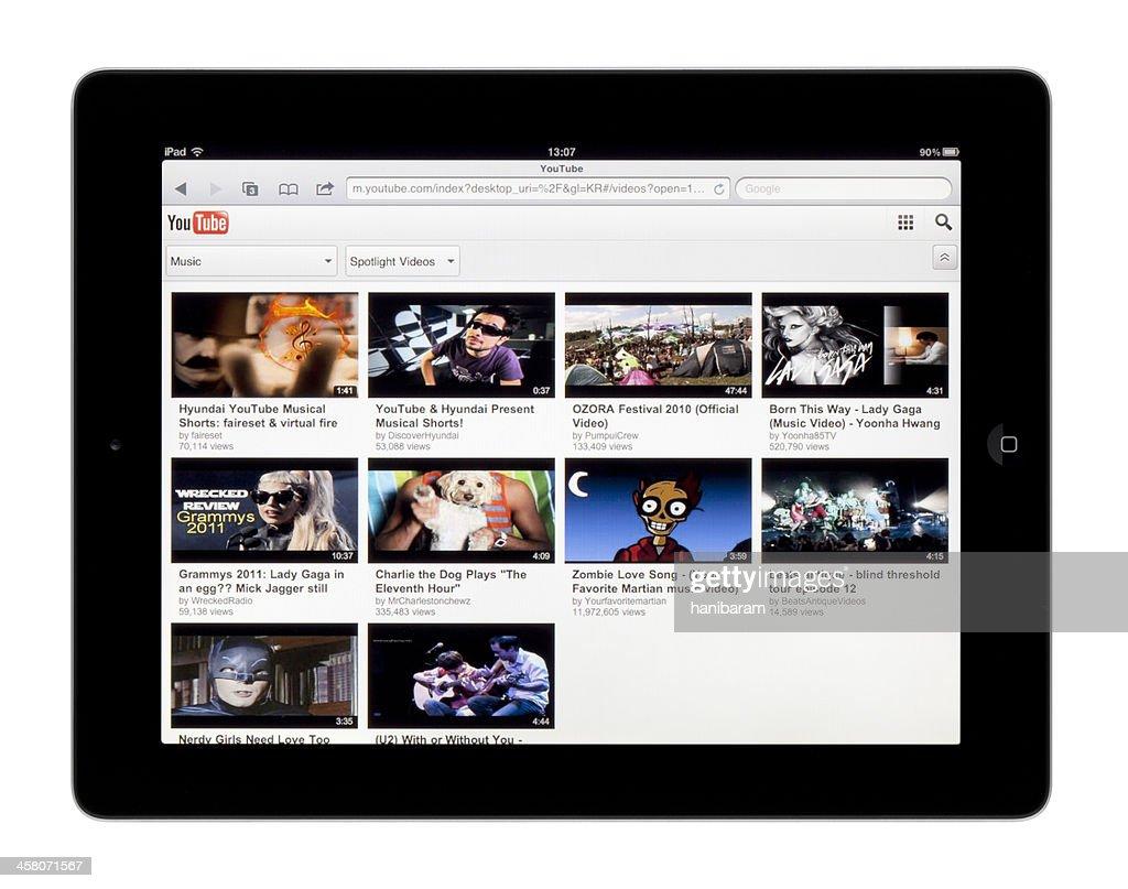 Apple Ipad Youtube Stock Photo - Getty Images