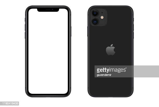 apple iphone 11 black smartphone - 11 stock pictures, royalty-free photos & images