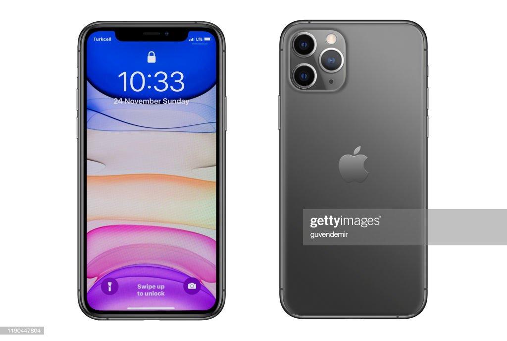 アップルのiPhone 11プログレースマートフォン : ストックフォト