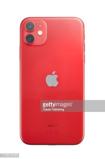 Apple iPhone 11 smartphone with a Red finish taken on September 24 2019