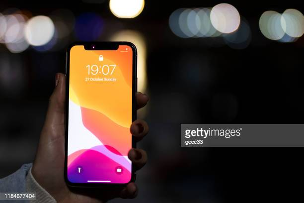 apple iphone 11pro silver white - 11 stock pictures, royalty-free photos & images