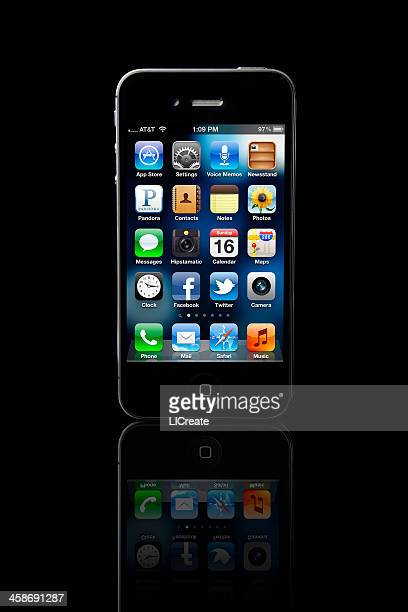 apple iphone 4s - siri mobile app stock pictures, royalty-free photos & images