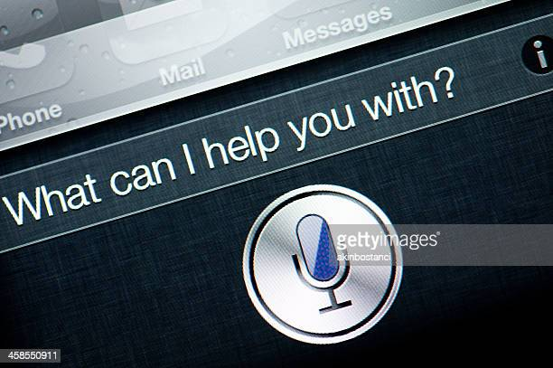 apple iphone 4s siri - speech recognition stock pictures, royalty-free photos & images