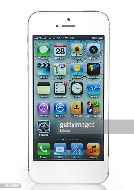 apple iphone 5 - siri mobile app stock pictures, royalty-free photos & images