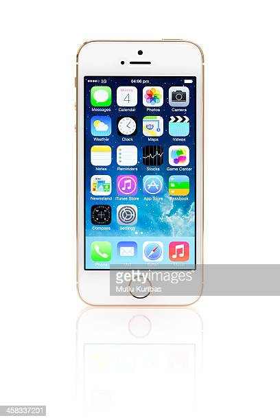 apple iphone 5s gold - calendar icon stock photos and pictures