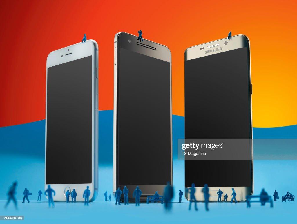 Phablet Smartphone Product Shoot : News Photo