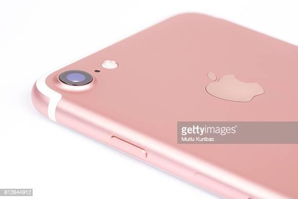 apple iphone 7 rose gold - ローズゴールド ストックフォトと画像