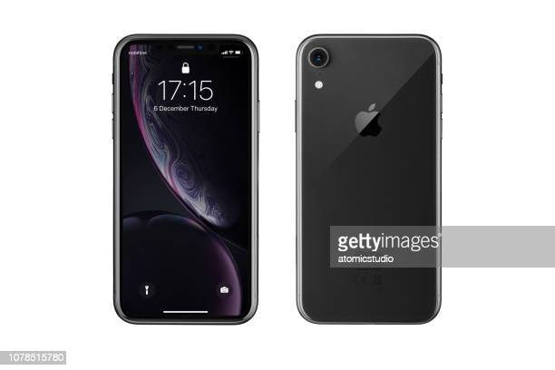 Apple iPhone XR Black Lock Screen and Rear view