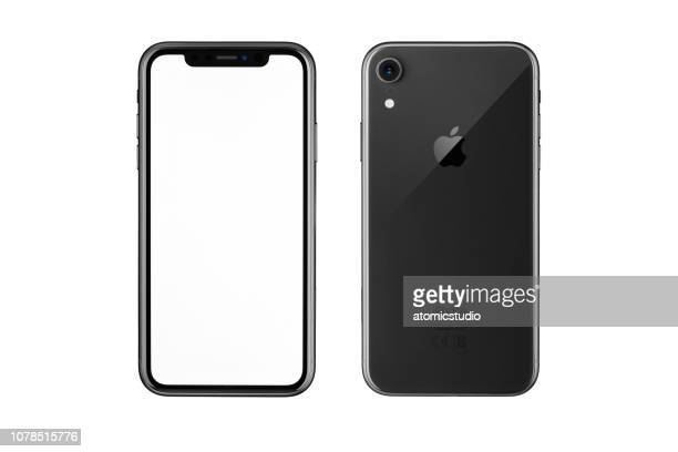 Apple iPhone XR Black, White Blank Screen and Rear view