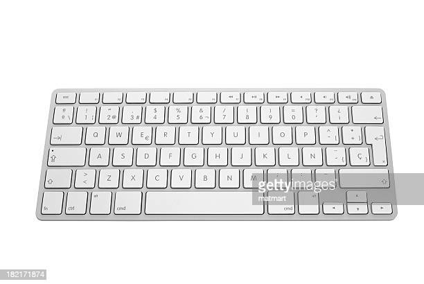 Apple keyboard in silver and white
