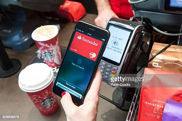 Apple launches Apple Pay its mobile payment service for stores apps and on the web in Spain on November 30 2016 in Madrid Spain