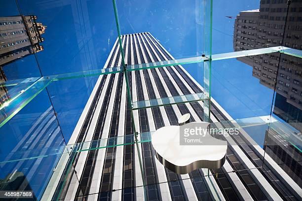 logotipo da apple, em nova york - apple computers - fotografias e filmes do acervo