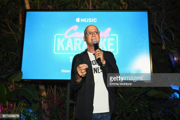 Apple Music executive Jimmy lovine speaks at Apple Music Launch Party Carpool Karaoke The Series with James Corden on August 7 2017 in West Hollywood...