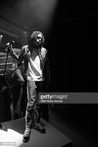 Apple Music UpNext Artist Daniel Caesar performs during 'The Late Late Show with James Corden' Wednesday August 16 2017 On The CBS Television Network