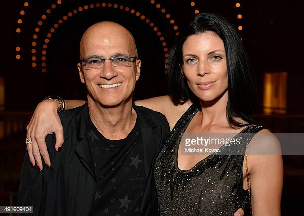 Apple Music's Jimmy Iovine and actress Liberty Ross attend the Vanity Fair New Establishment Summit cocktail party at The Ferry Building on October 6...