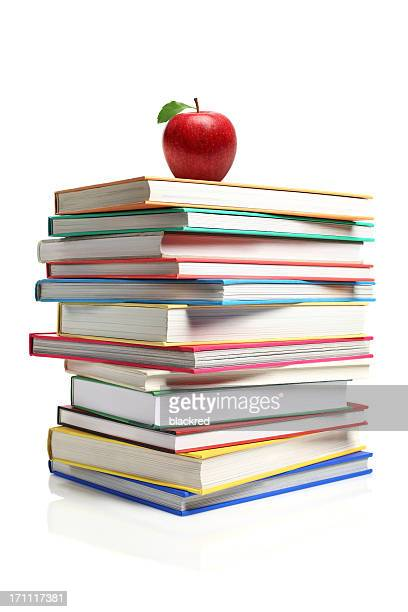 Apple on a Stack of Book
