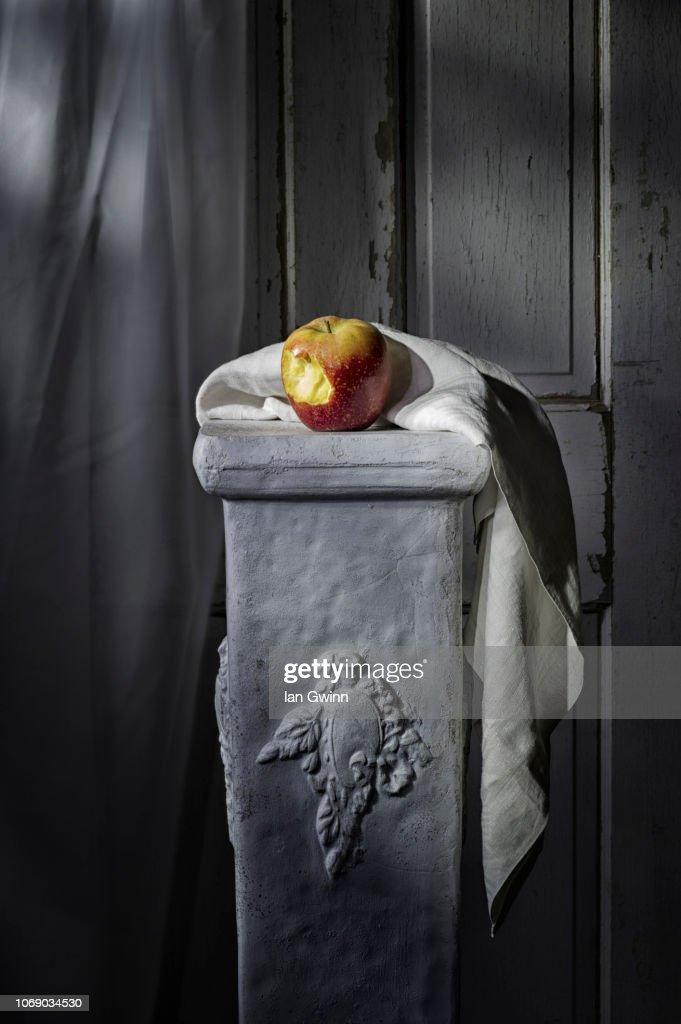 Apple on Pedestal : Stock Photo