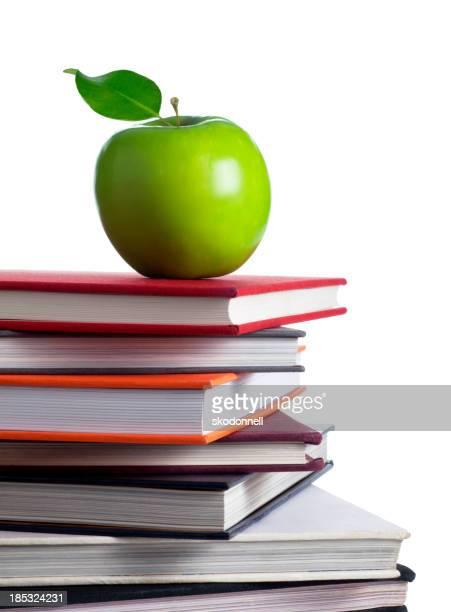 Apple on Top of School Books