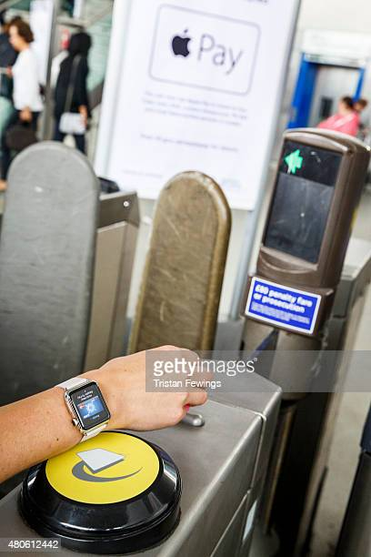 Apple Pay launches in the UK on July 14 2015 in London England