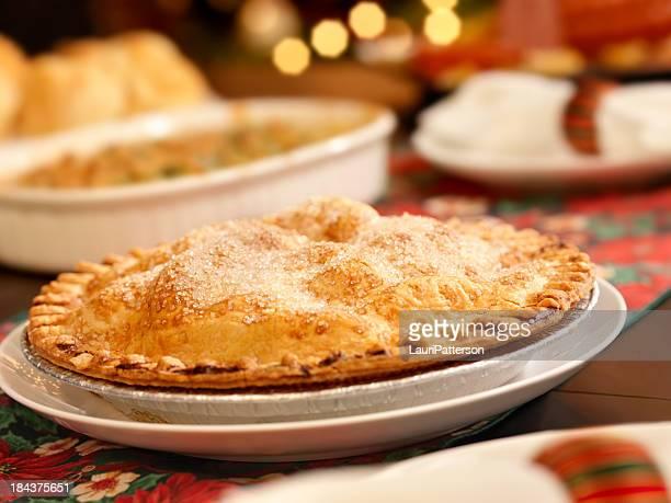 Tarte aux pommes à Noël pour le dîner